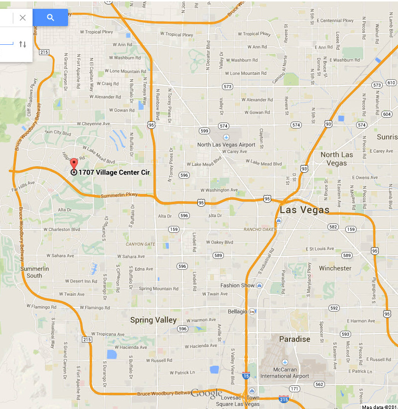 The address or map below to access google maps for driving directions